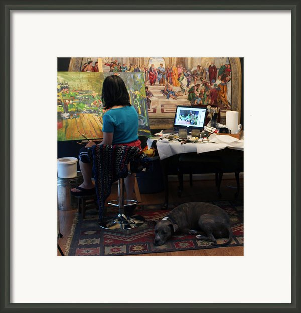 Life With Artist 1 Framed Print By Becky Kim