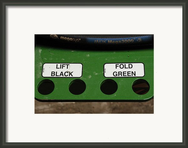 Lift Black Fold Green Framed Print By Christi Kraft