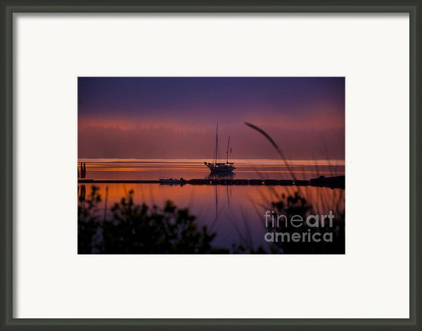 Lifting Morning Fog Framed Print By Ron Roberts
