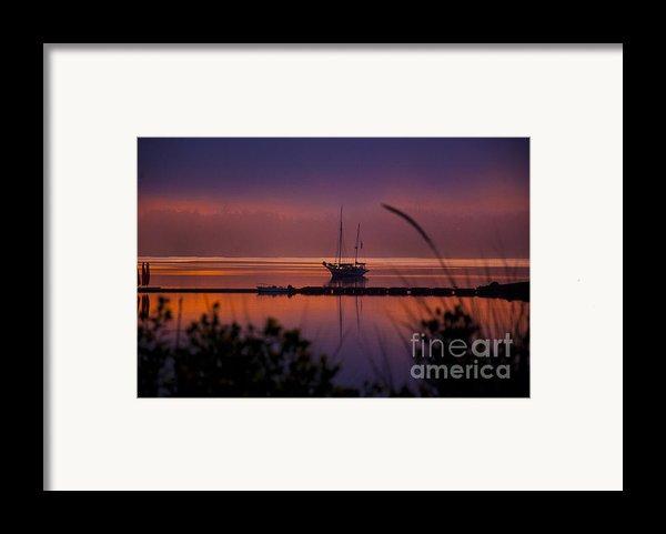 Lifting Morning Fog Framed Print By Ron Roberts