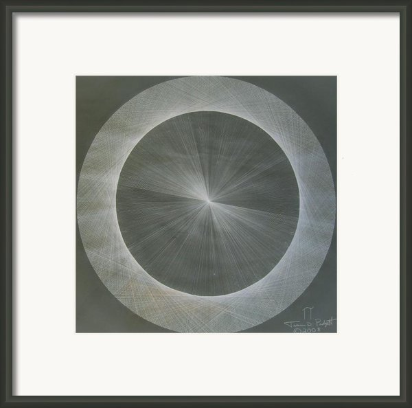 Light Is Pi  The Shape Of Pi Framed Print By Jason Padgett