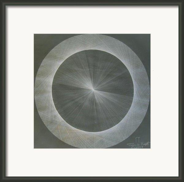 Light Is Pi  The Shape Of Pi Framed Print By Jason Padgett