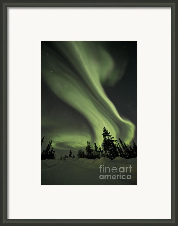 Light Swirls Over The Midnight Dome Framed Print By Priska Wettstein