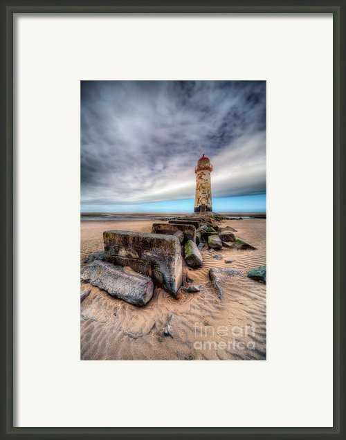 Lighthouse At Talacre  Framed Print By Adrian Evans