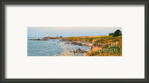 Lighthouse In Summer Framed Print By Author And Photographer Laura Wrede