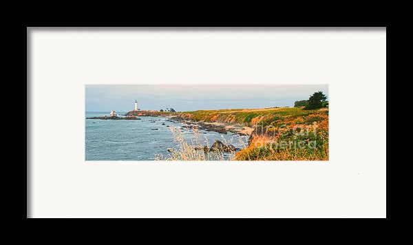 Lighthouse In Summer Framed Print By Artist And Photographer Laura Wrede