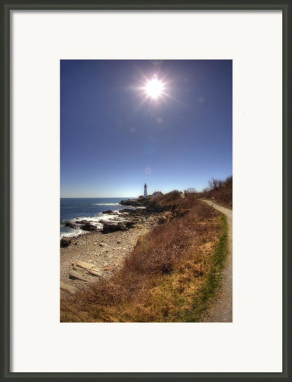 Lighthouse Path Framed Print By Joann Vitali