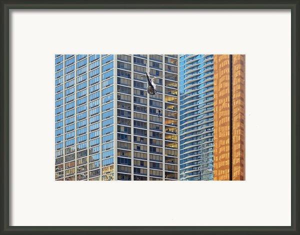 Lights - Camera - Action - Movie Backdrop Chicago Framed Print By Christine Till