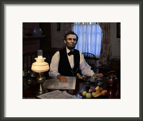 Lincoln At Breakfast 2 Framed Print By Ray Downing
