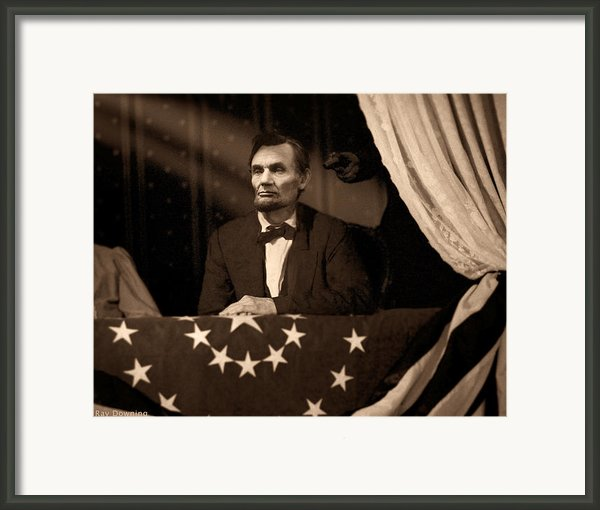 Lincoln At Fords Theater Framed Print By Ray Downing
