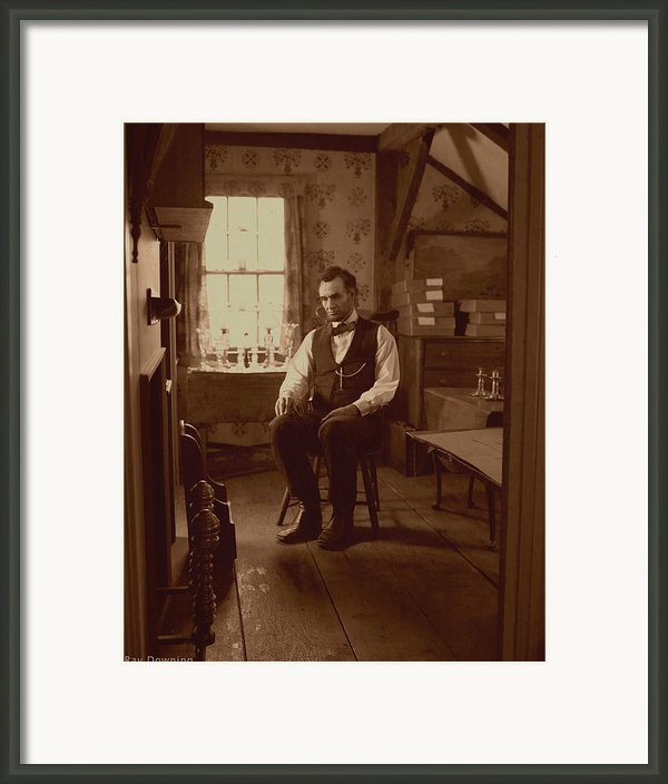 Lincoln In The Attic Framed Print By Ray Downing