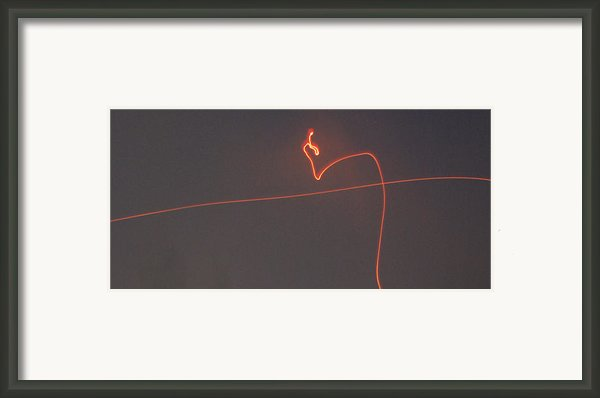 Linear Abstract Fireworks  Framed Print By Jani Freimann