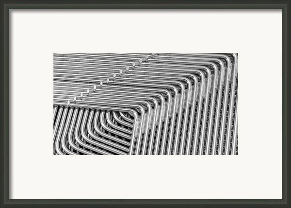 Lines And Curves Framed Print By Ruud Morijn