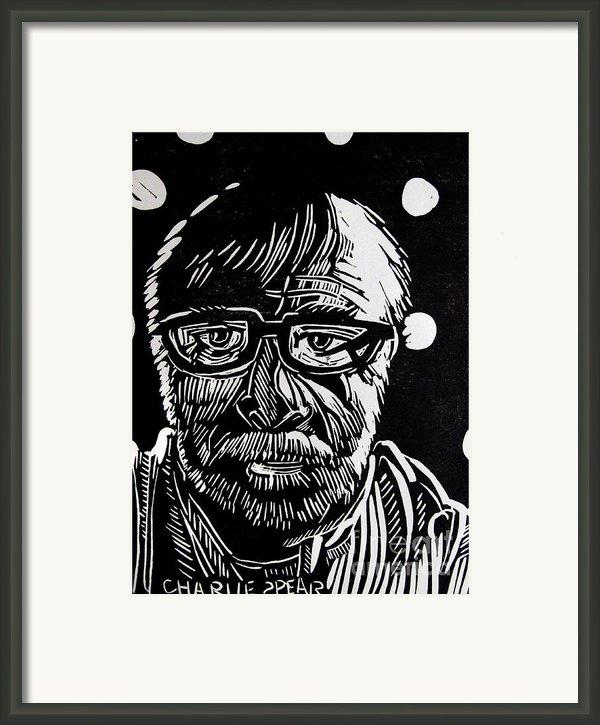 Lino Cut Charlie Spear Framed Print By Charlie Spear