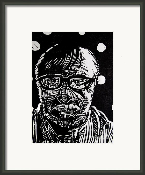 Lino Cut Charlie Spear Framed Print By Charlie Spear