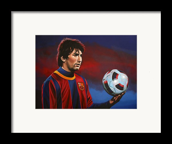 Lionel Messi  Framed Print By Paul Meijering