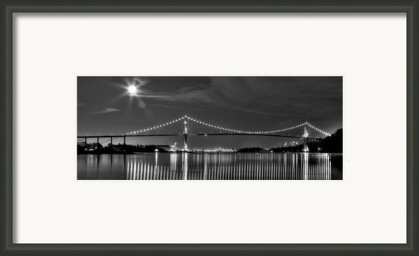 Lions Gate Bridge Black And White Framed Print By Naman Imagery