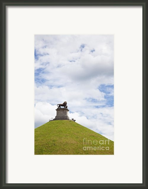 Lions Mound Memorial To The Battle Of Waterlooat Waterloo Belgium Europe Framed Print By Jon Boyes