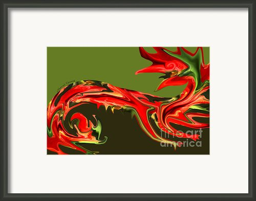Liquid Dragon Framed Print By Cheryl Young