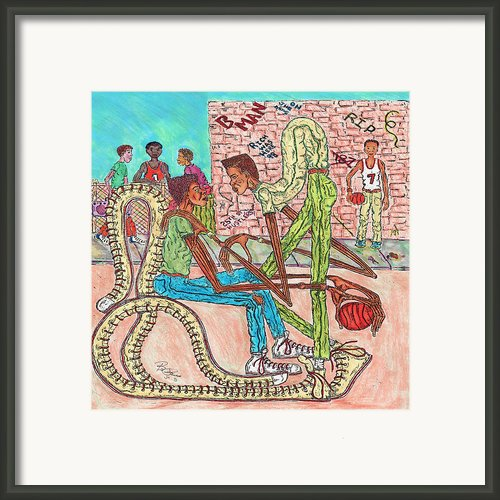 Listen To Me Brother Framed Print By Richard Hockett