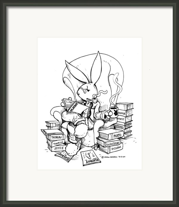 Literary Playboy Framed Print By John Ashton Golden