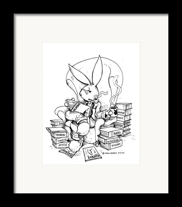 Literary Playboy Framed Print By John Ashton Golden