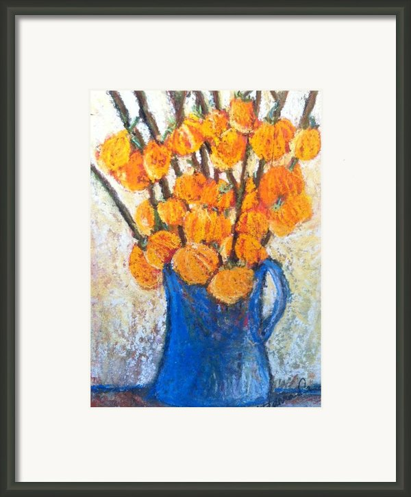 Little Blue Jug Framed Print By Sherry Harradence