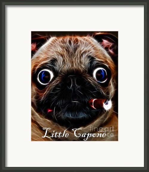 Little Capone - C28169 - Electric Art - With Text Framed Print By Wingsdomain Art And Photography