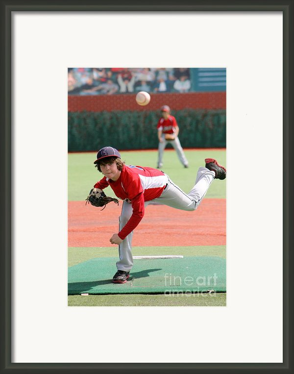 Little League Pitcher Framed Print By Lisa Billingsley