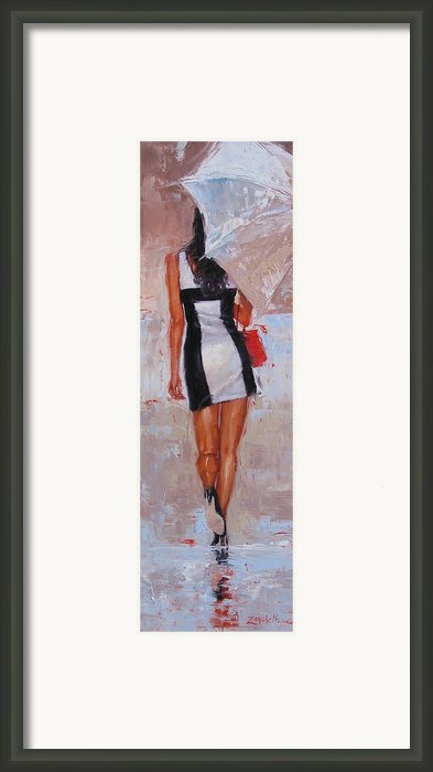 Little Red Bag Framed Print By Laura Lee Zanghetti