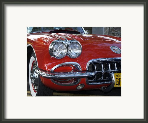 Little Red Corvette Framed Print By Bill Gallagher