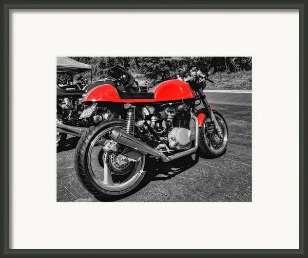 Little Red Racer 001 Framed Print By Lance Vaughn