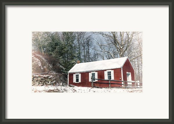 Little Red Schoolhouse Framed Print By Bill  Wakeley
