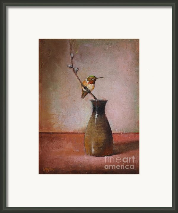 Little Sake Bottle Framed Print By Lori  Mcnee