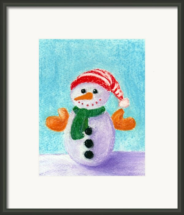 Little Snowman Framed Print By Anastasiya Malakhova