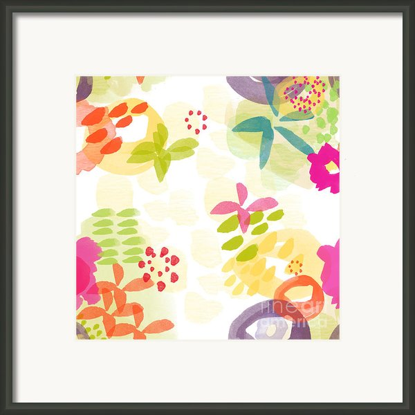 Little Watercolor Garden Framed Print By Linda Woods