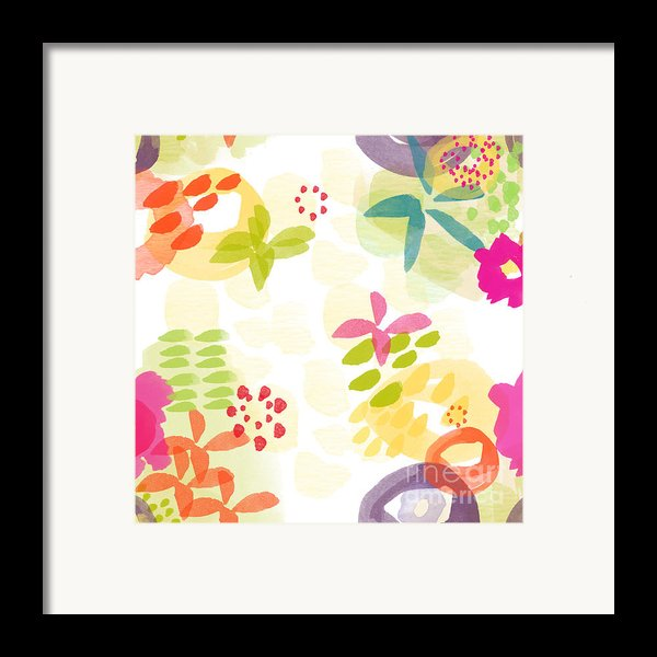 Little Watercolor Garden Framed Print By Linda Woods