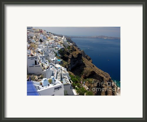 Living On The Edge Framed Print By Mel Steinhauer