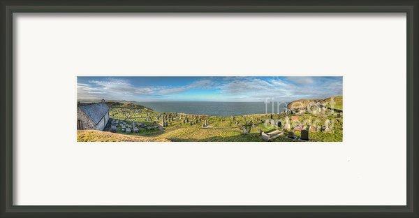 Llanbadrig Church Panorama Framed Print By Adrian Evans