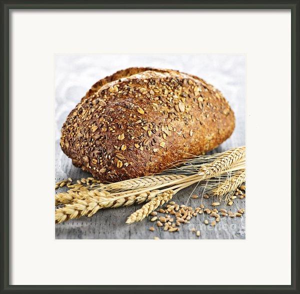 Loaf Of Multigrain Bread Framed Print By Elena Elisseeva