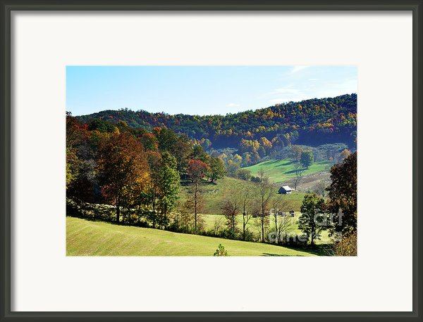Log Cabin In The Mountains Framed Print By Thomas R Fletcher