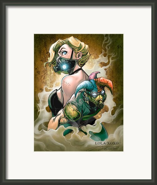 Lola And Jester Framed Print By Siya Oum