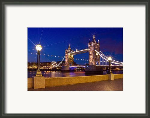 London - Tower Bridge By Night Framed Print By Melanie Viola