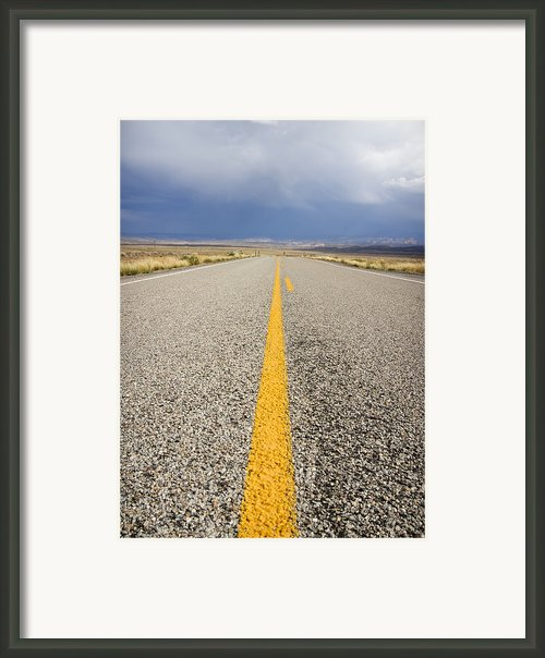 Long Lonely Road Framed Print By Adam Romanowicz