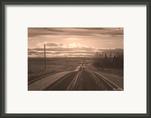 Long Road Home Framed Print By Laura Bentley