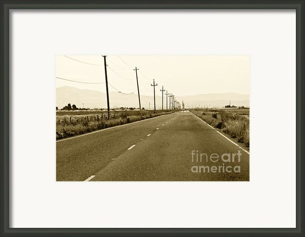 Long Road Home Framed Print By Artist And Photographer Laura Wrede