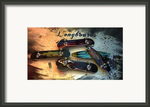 Longboards Framed Print By Louis Ferreira