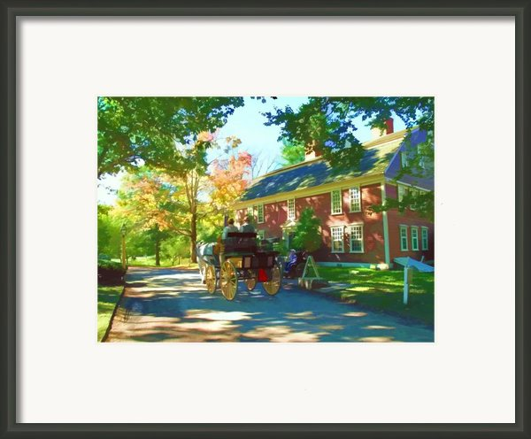 Longfellows Wayside Inn Framed Print By Barbara Mcdevitt