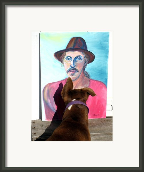 Lookin At You Dad Framed Print By Ron Mcmath