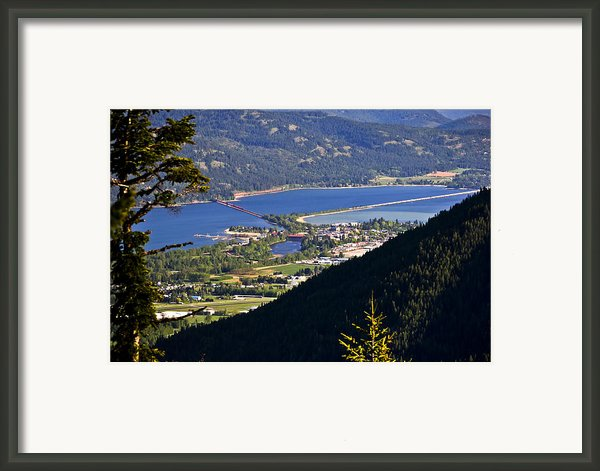 Looking Down On Sandpoint Framed Print By Albert Seger